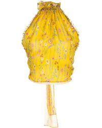 Alexis Balbina Halter-neck Blouse - Yellow
