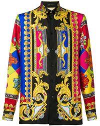 Versace Camisa con estampado barroco - Negro