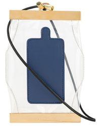 Sacai Tie-detail Wallet Lanyard - Blue