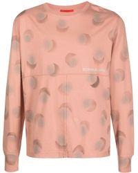 Eckhaus Latta Embroidered Logo Panelled T-shirt - Pink