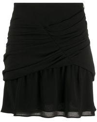 IRO ギャザー ミニスカート - ブラック