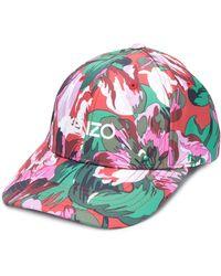 KENZO X Vans Floral-print Logo Cap - Multicolor