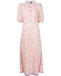 RIXO London プリント ドレス - オレンジ