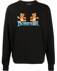 DOMREBEL プリント スウェットシャツ - ブラック