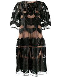 Alberta Ferretti レイヤード ドレス - ブラック