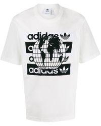 adidas T-shirt Met Print - Wit