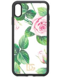 Dolce & Gabbana IPhone X-Hülle mit Rosen-Print - Weiß