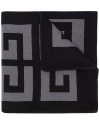 Givenchy 4g Logo Knitted Scarf - Grey
