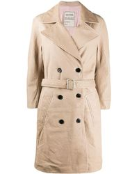 Zadig & Voltaire Belted Trench Coat - Natural