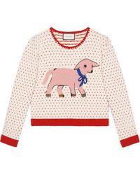 Gucci - インターシャ セーター - Lyst