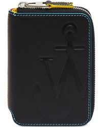 JW Anderson Anchor Logo Medium Wallet - Black