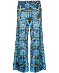 Ashish - Checked Sequin Trousers - Lyst