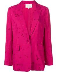 Equipment Star Pattern Blazer Jacket - Pink