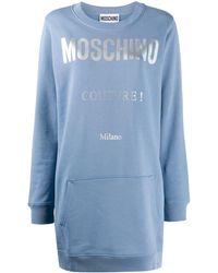 Moschino - ロゴ スウェットワンピース - Lyst