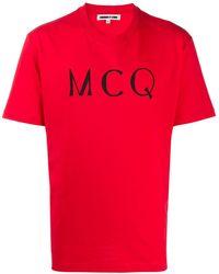 McQ ロゴ Tシャツ - レッド