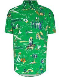 Polo Ralph Lauren Overhemd Met Hawaiiaanse Print - Groen