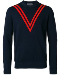 Stella McCartney - Chevron Effect Sweater - Lyst