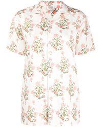 Hemant & Nandita Floral Print Shirt - White