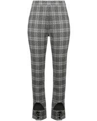 Ellery Checked High Waist Trousers - Черный