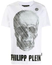 Philipp Plein T-shirt a girocollo - Bianco