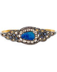 Gemco Diamond, Opal & Sapphire Hand Bracelet - Blue