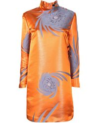 Undercover フローラル ドレス - オレンジ
