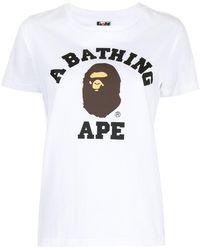 A Bathing Ape ロゴ Tシャツ - ホワイト
