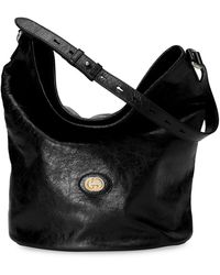 Gucci Leather Hobo Shoulder Bag - Black