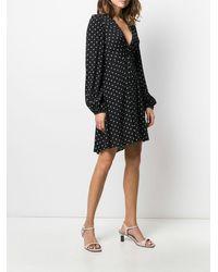 Pinko Платье С Узором В Горох - Черный