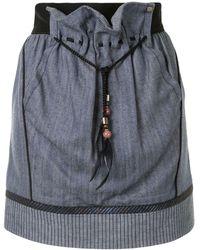 Louis Vuitton Мини-юбка Со Вставками - Синий