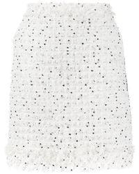 Karl Lagerfeld Юбка Букле С Бахромой - Белый