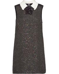 Miu Miu スパンコール ドレス - マルチカラー