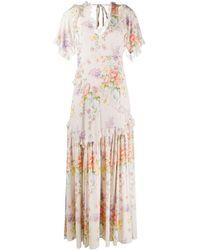 Needle & Thread Elsa フローラル ドレス - ホワイト