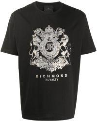 John Richmond プリント Tシャツ - ブラック