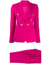 Tagliatore Double-breasted Trouser Suit - Pink