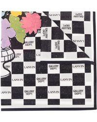 Lanvin チェック スカーフ - ホワイト