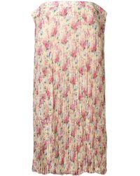 Junya Watanabe Floral Crepe Long Skirt - Желтый