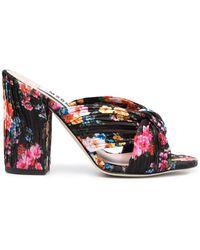MSGM Sandali a fiori - Nero