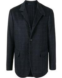 Stefano Ricci Check-print Cashmere Jacket - Blue