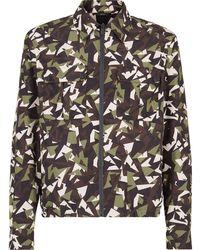 Fendi Куртка С Камуфляжным Принтом Bag Bugs - Зеленый