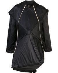 Rick Owens Deconstructed Umbrella Coat - Black