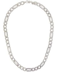 Fendi Ff Chain Necklace - Metallic