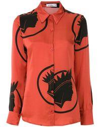 Amir Slama Рубашка С Принтом Índio - Красный