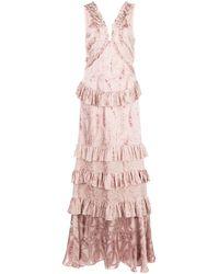 Alexis Rafaela ラッフル ドレス - ピンク