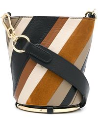 See By Chloé Zelie Striped Bucket Bag - Multicolour