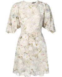 Alexander McQueen Платье Мини С Цветочным Принтом - Многоцветный