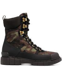 Car Shoe Ботинки В Стиле Милитари С Камуфляжным Узором - Черный