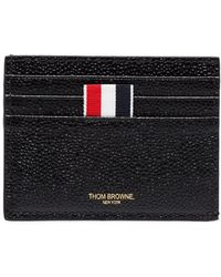 Thom Browne Money Clip Wallet In Black Pebble Grain - Zwart