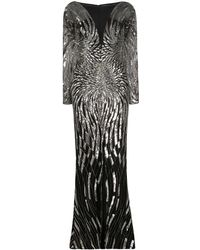 Zuhair Murad スパンコール ドレス - ブラック