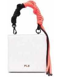 Philosophy Di Lorenzo Serafini Mini Braided-handle Leather Bag - White